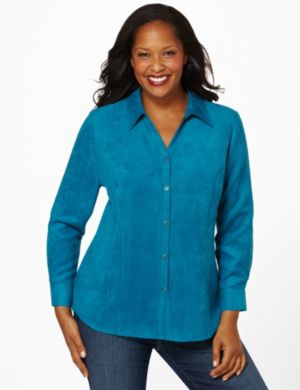Moleskin Button Blouse
