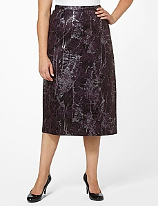 Snake Sheen Skirt by CATHERINES