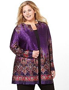 Silky Paisley Reversible Jacket by Catherines