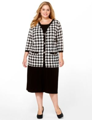 Houndstooth Jacket Dress