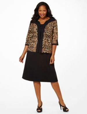 Leopard Jacket Dress