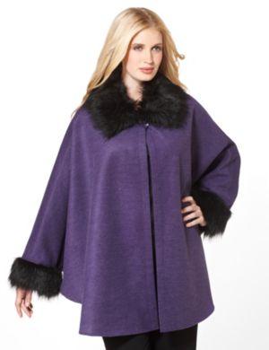 Wool Capelet Jacket