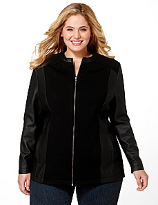 Faux Leather Jacket by Catherines