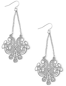 Filigree Chain Earrings by Catherines