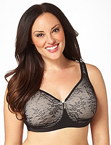 No-Wire Lace Comfort Bra by CATHERINES
