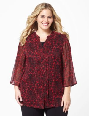 Flourish Pleat Blouse