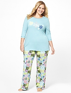 Retro Snowflake Pajama Set by CATHERINES