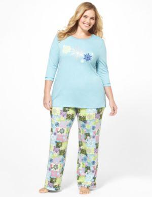 Retro Snowflake Pajama Set