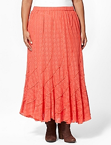 Eyelet Swirl Skirt by CATHERINES