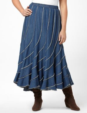 Denim Swirl Skirt
