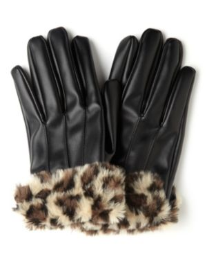 Leopard Fur Gloves