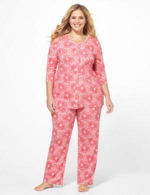 Paisley Heart Pajama Set