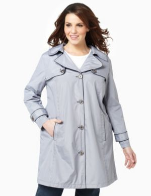 Mini-Checker Trench Coat