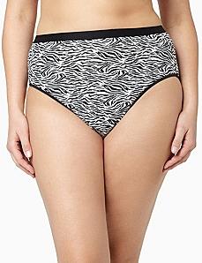 Serenada® Zebra Hi-Cut Panty