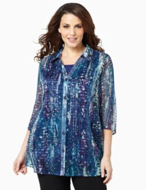 Paintburst Duet Blouse