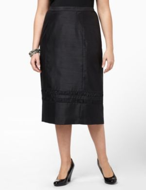 Shantung Ruffle Skirt