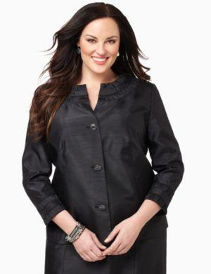 Shantung Ruffle Jacket