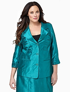 Silky Ruched Jacket by CATHERINES
