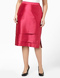 Polished Shantung Skirt