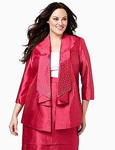 Polished Shantung Jacket by CATHERINES