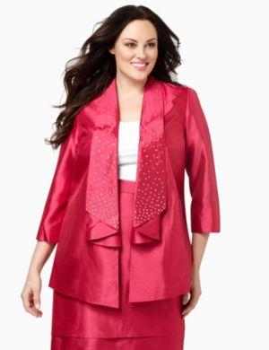Polished Shantung Jacket