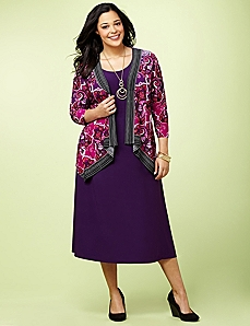 Paisley Enchant Jacket Dress by CATHERINES