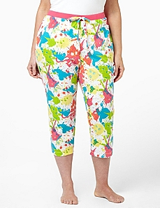 Paint Splatter Sleep Capri