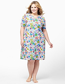Floral Sketch Sleepshirt by CATHERINES