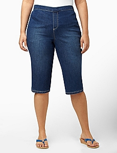 Wear-Now Denim Capri by CATHERINES