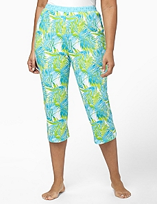 Eyelet Palm Sleep Capri by CATHERINES