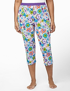 Floral Sleep Capri