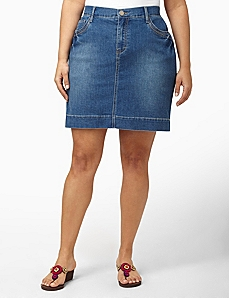 Denim Skort by CATHERINES