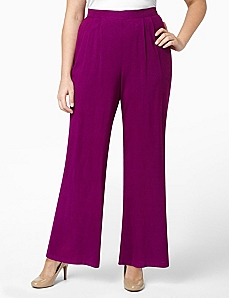 Pleat Palazzo Pant by CATHERINES