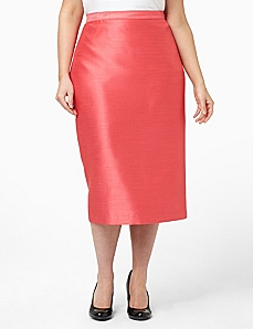Shantung Sheen Skirt by CATHERINES