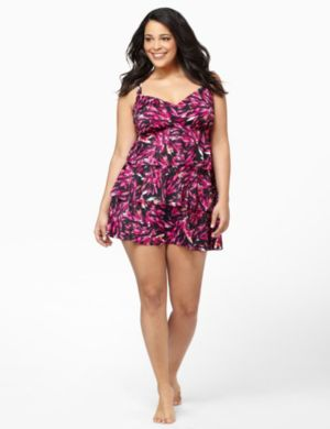 Tiered Feather Swimdress