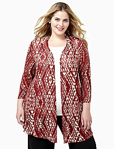 Ikat Cascade Jacket by CATHERINES