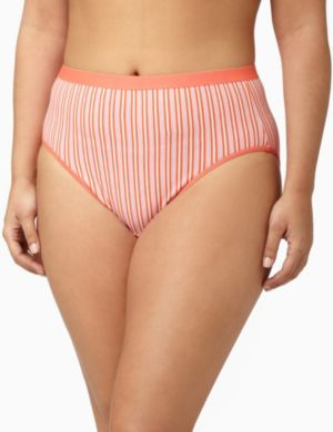 Serenada® Orange Stripes Hi-Cut Panty