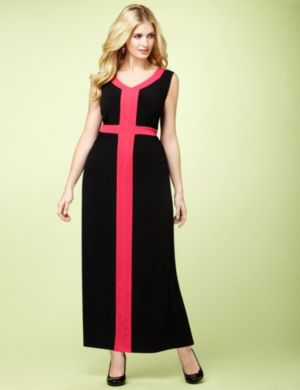Framed Colorblock Maxi