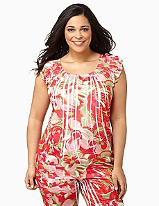 Tropical Punch Sleep Top by CATHERINES