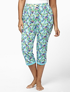 Feather Edge Sleep Capri by CATHERINES
