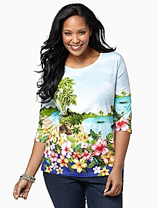 Hawaiian Coast Top by CATHERINES