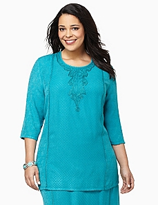 Delicate Touch Tunic by CATHERINES