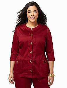 Crisp Sateen Jacket by CATHERINES