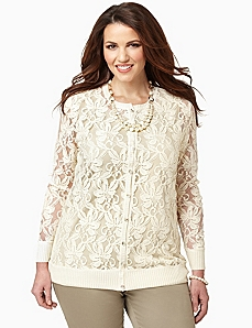 Romantic Lace Cardigan by CATHERINES