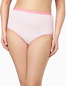 Serenada® Gingham Brief by CATHERINES