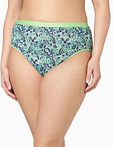 Serenada® Paisley Muse Hi-Cut Panty by CATHERINES