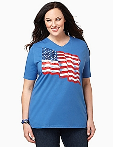 Stars & Stripes Tee by CATHERINES