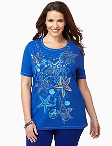 Starfish Tee by CATHERINES