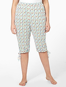 Dots Cargo Sleep Capri by CATHERINES
