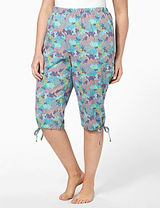 Floral Cargo Sleep Capri by CATHERINES